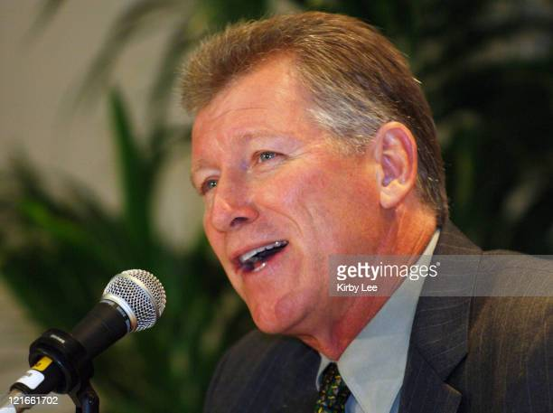 Oregon coach Mike Bellotti at Pacific-10 Conference Football Media Day at the Sheraton Gateway in Los Angeles, Calif. On Thursday, July 27, 2006.