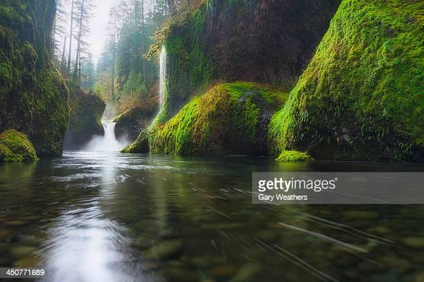 USA, Oregon, Columbia Gorge, Punchbowl falls
