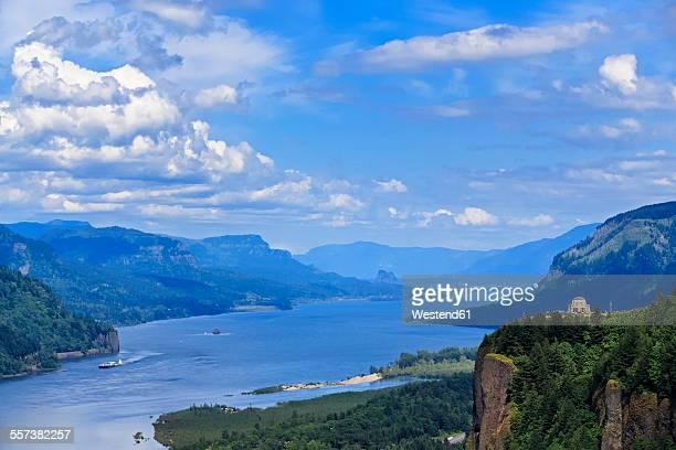 USA, Oregon, Columbia River Gorge, Crown Point, Vista House