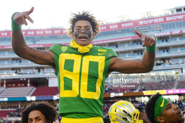 Oregon Ducks Wide Receiver Bryan Addison during the Redbox Bowl between the Michigan State Spartans and the Oregon Ducks at Levi's Stadium on...