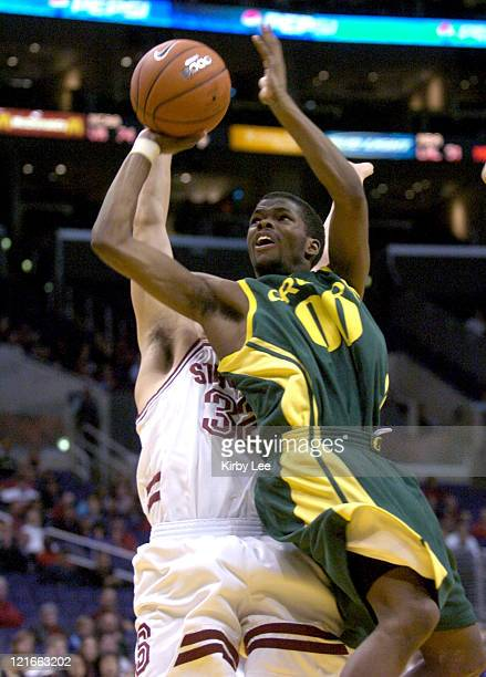 Oregon freshman guard Aaron Brooks during 7063 loss to Stanford in Pacific 10 Conference men's basketball tournament semifinal at the Staples Center...