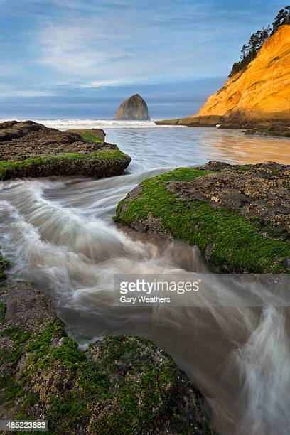 USA, Oregon, Pacific City, Cape Kiwanda State Park, Haystack Rock