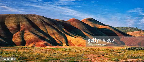 usa, oregon, painted hills - painted hills stock pictures, royalty-free photos & images