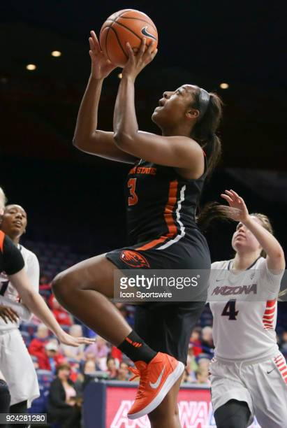 Oregon State Beavers guard/forward Madison Washington layup the ball during the a college women's basketball game between Oregon State Beavers and...