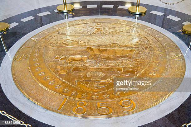 oregon state seal - oregon us state stock pictures, royalty-free photos & images