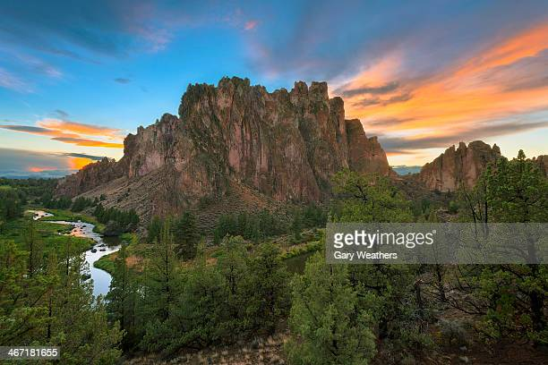 USA, Oregon, View of Smith Rock
