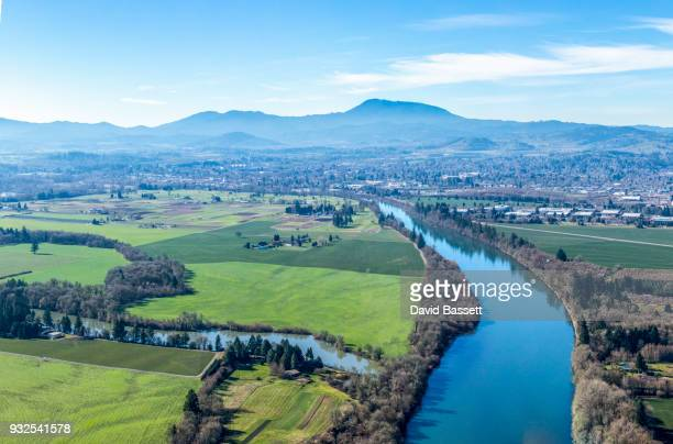oregon willamette valley aerials - v1 - corvallis stock pictures, royalty-free photos & images