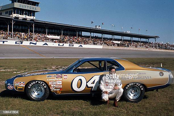 OregonÕs Herschel McGriff with his Almost Heaven West Virginiasponsored Dodge Charger at Daytona International Speedway The car was fielded by Petty...