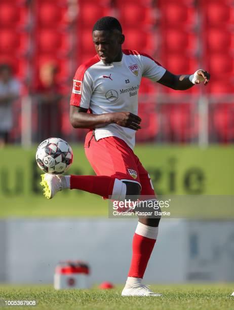 Orel Mangala of Stuttgart in action prior to the preseason friendly match between SV Sandhausen and VfB Stuttgart on July 25 2018 in Sandhausen...