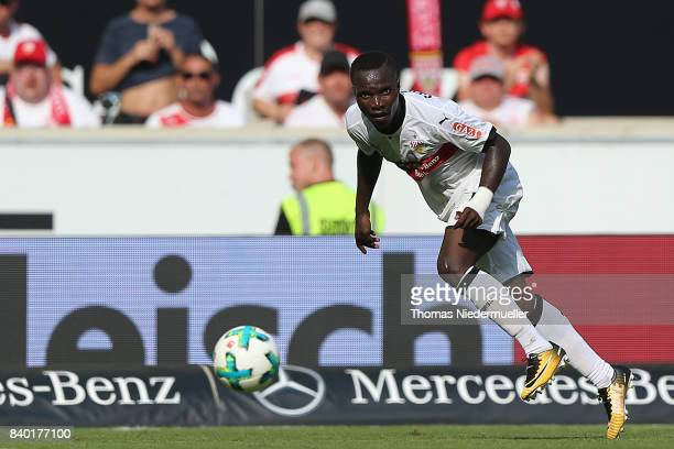 Orel Mangala of Stuttgart in action with the ball during the Bundesliga match between VfB Stuttgart and 1 FSV Mainz 05 at MercedesBenz Arena on...
