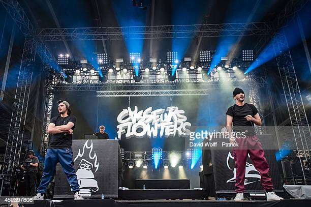 Orelsan and Gringe from Casseurs Flowters perform at Fnac Live Festival on July 19 2014 in Paris France
