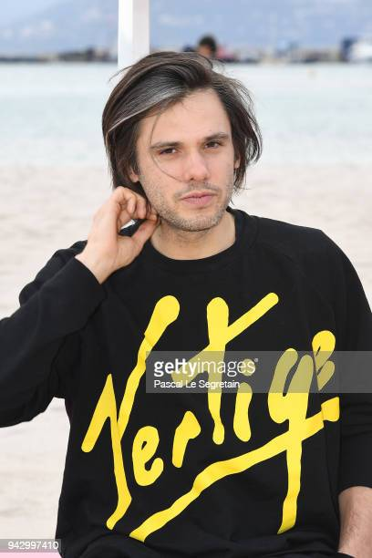 Orelsan attends a photocall during the 1st Cannes International Series Festival on April 7 2018 in Cannes France