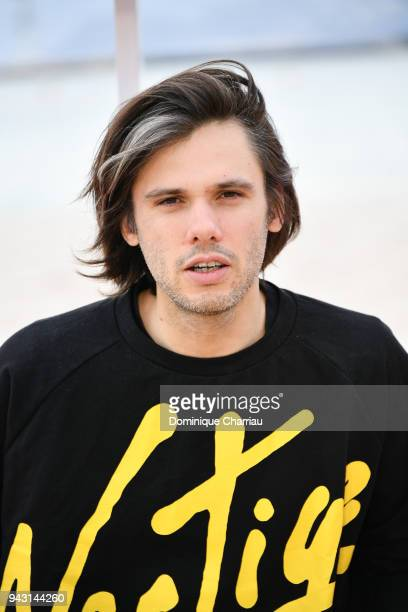 Orelsan poses during the 1st Cannes International Series Festival on April 7 2018 in Cannes France