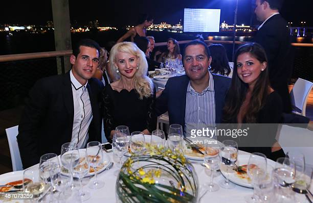 Oren Alexander Katrina Peebles Don Peebles and Lauren Fitzpatrick attend the Haute Living Miami Haute 100 Dinner Presented By Dom Perignon And Jade...