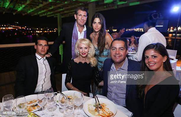Oren Alexander Michael Capponi Katrina Peebles Don Peebles and Lauren Fitzpatrick attend the Haute Living Miami Haute 100 Dinner Presented By Dom...