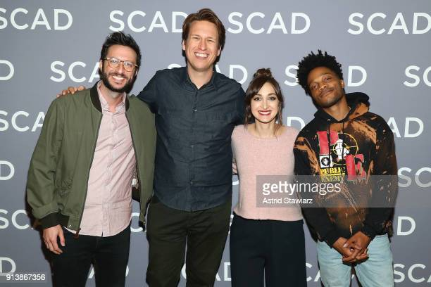 Oren Brimer Pete Holmes Jamie Lee and Jermaine Fowler attend a press junket for 'Crashing' on Day 3 of the SCAD aTVfest 2018 on February 3 2018 in...