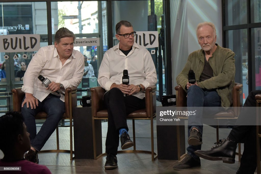 Oren Koules, Mark Burg and Tobin Bell attend Build series to discuss 'Jigsaw' at Build Studio on October 6, 2017 in New York City.