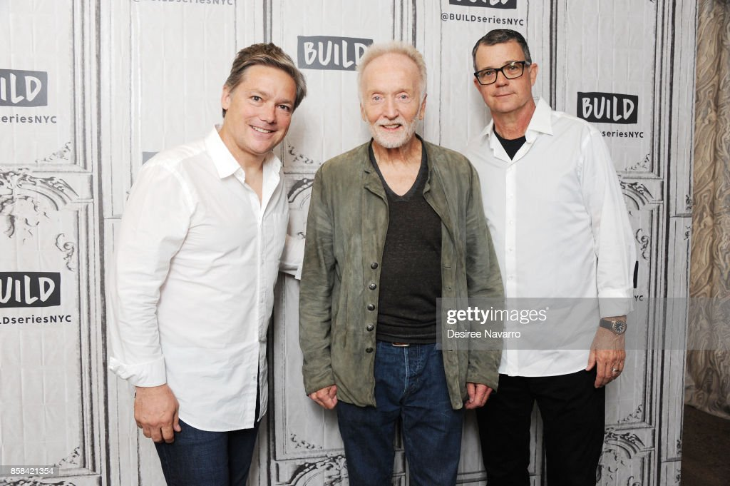 Oren Koules, Tobin Bell and Mark Burg attend Build to discuss 'Jigsaw' at Build Studio on October 6, 2017 in New York City.
