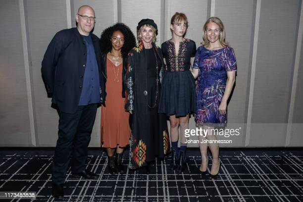 "Oren Moverman, Betty Gabriel, Trudie Styler, Maya Hawke and Celine Rattray attend ""Human Capital"" TIFF Kickoff Cocktail event at The Hazelton Hotel..."