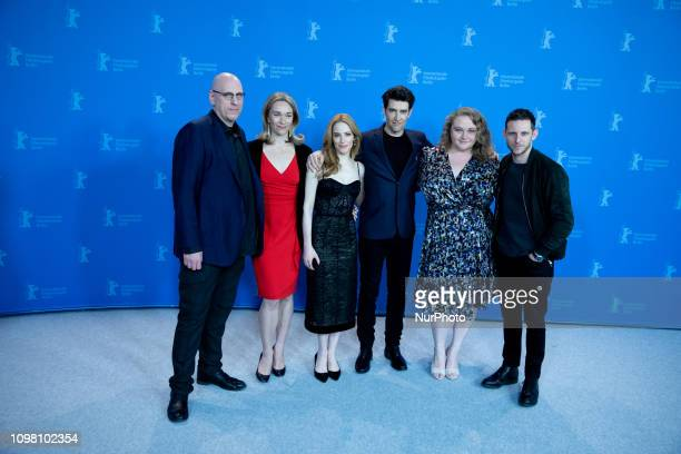 Oren Moverman Celine Rattray Jaime Ray Newman Guy Nattiv Danielle Macdonald and Jamie Bell attends the 'Skin' Photocall during the 69th Berlinale...