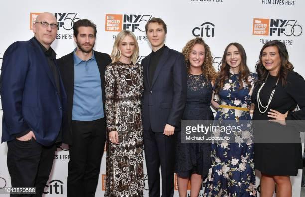 Oren Moverman Jake Gyllenhaal Carey Mulligan Paul Dano Riva Marker Zoe Kazan and Alex Saks attend the 'Wildlife' premiere during the 56th New York...