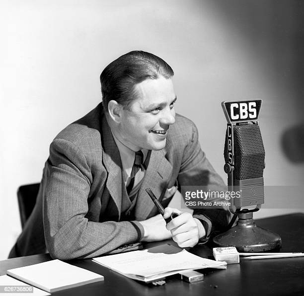 J Oren Weaver CBS Radio news editor at WBBM Chicago Illinois Image dated June 1 1940