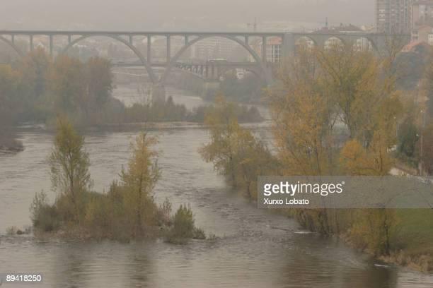 Orense Bridges on the river Mino To the bottom the city