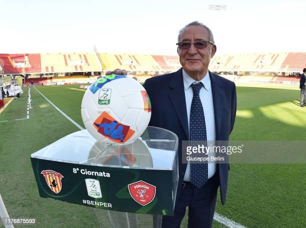 Oreste Vigorito President of Benevento Calcio prior the Serie B match between Benevento Calcio and AC Perugia at Stadio Ciro Vigorito on October 19,...