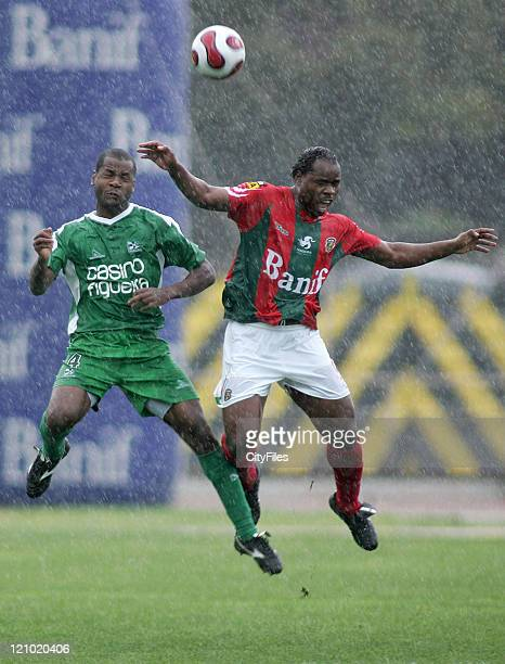 Orestes and Mbesuma during a Portuguese Premier League match between Maritimo and Naval in Funchal Portugal on April 7 2007