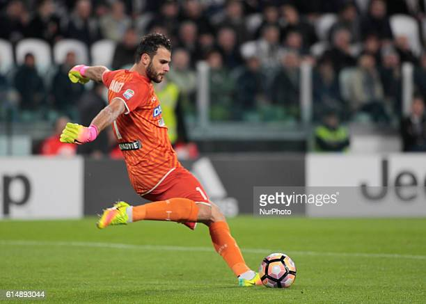 Orestis Karnezis during Serie A match between Juventus v Udinese in Turin on October 15 2016