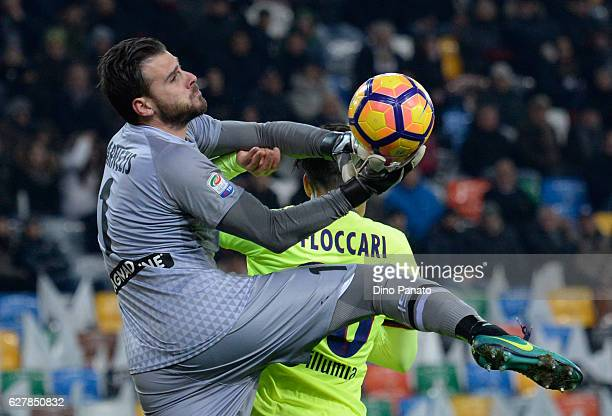 Orestis Karnezis goalkeeper of Udinese Calcio in action during the Serie A match between Udinese Calcio and Bologna FC at Stadio Friuli on December 5...