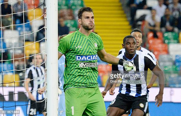 Orestis Karnezis goalkeeper of Udinese Calcio looks on during the Serie A match between Udinese Calcio and SS Lazio at Stadio Friuli on October 1...