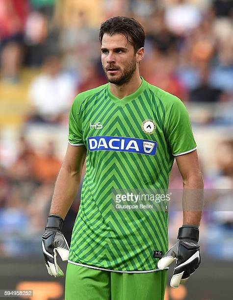 Orestis Karnezis of Udinese Calcio during the Serie A match between AS Roma and Udinese Calcio at Olimpico Stadium on August 20 2016 in Rome Italy