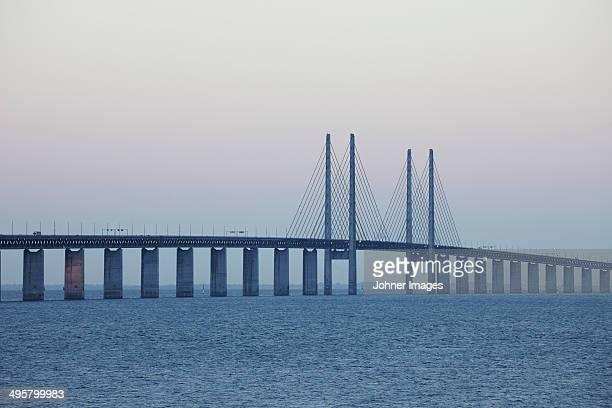 Oresund bridge at dawn, Malmo, Skane, Sweden