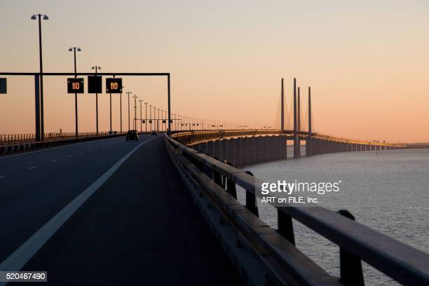 oresund bridge in copenhagen - oresund region stock pictures, royalty-free photos & images
