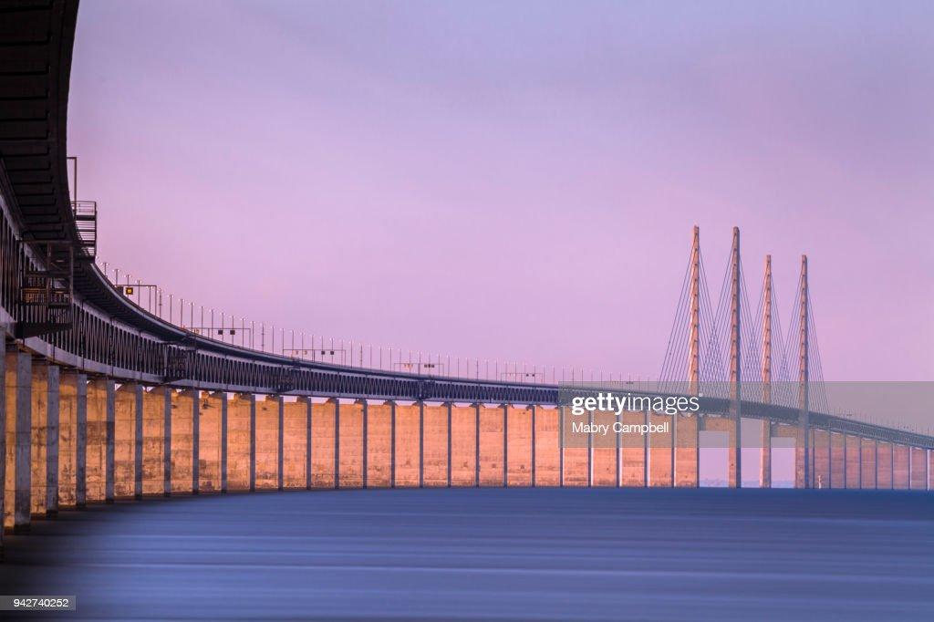 Oresund Bridge in Malmö, Sweden (Øresundsbron) : Stock Photo