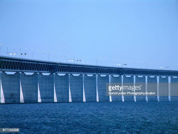 Oresund Bridge, Linking Malmo, Sweden and Copenhagen, Denmark,.