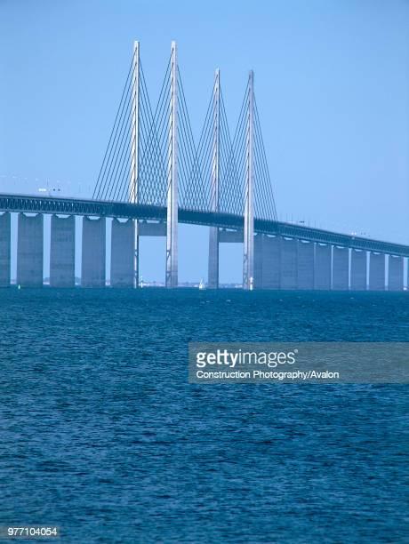 Oresund Bridge, Linking Malmo, Sweden and Copenhagen, Denmark,.
