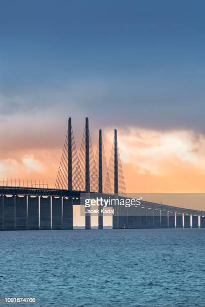 oresund bridge - oresund region stock pictures, royalty-free photos & images