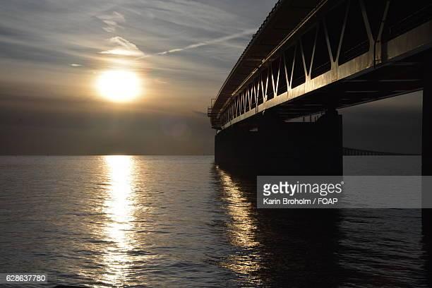 Oresundsbron bridge at sunset