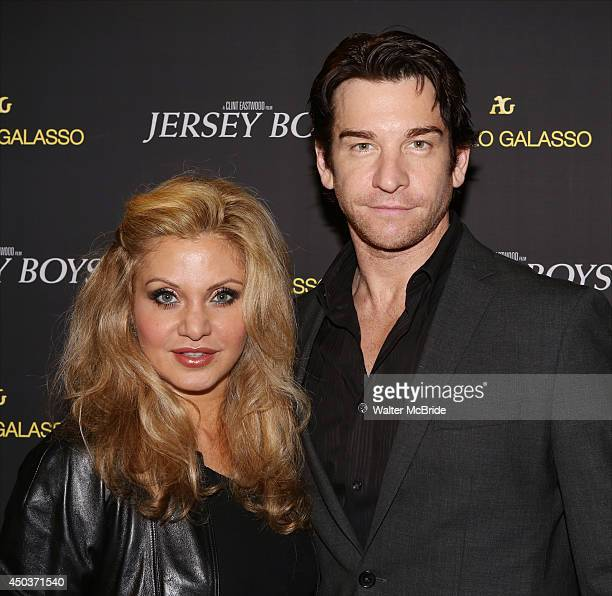 Orfeh and Andy Karl attend a special New York screening reception for 'Jersey Boys' hosted by Angelo Galasso at Angelo Galasso on June 2014 in New...