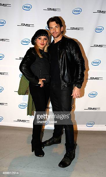 Orfeh and Andy Karl attend Intel x SMS Audio product launch at Four World Trade Center on December 3 2014 in New York City