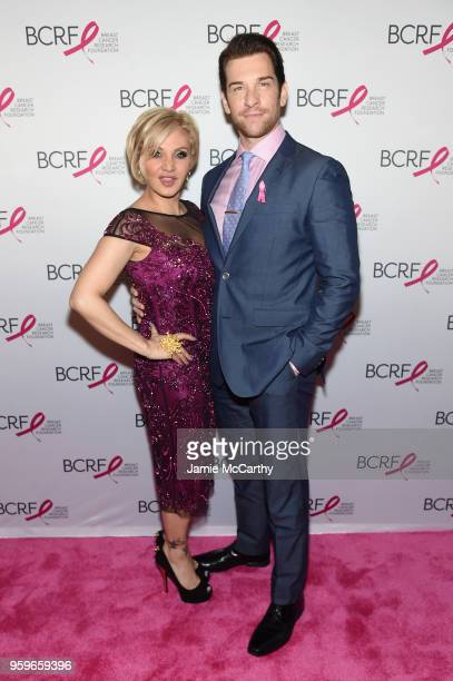 Orfeh and Andy Karl attend the Breast Cancer Research Foundation Hot Pink Gala hosted by Elizabeth Hurley at Park Avenue Armory on May 17 2018 in New...