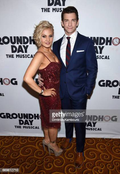 """Orfeh and Andy Karl attend the """"Groundhog Day"""" Broadway Opening Night at Gotham Hall on April 17, 2017 in New York City."""