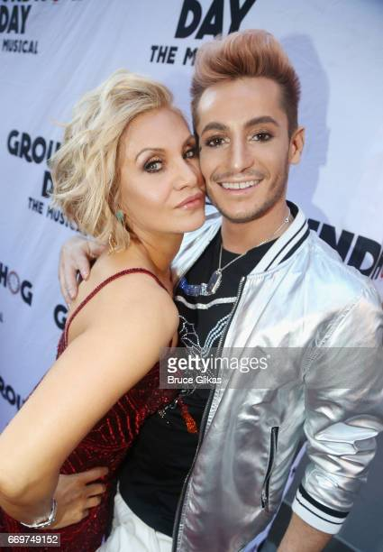 Orfeh and Frankie James Grande pose at the opening night of the new musical based on the film Groundhog Day on Broadway at The August Wilson Theatre...