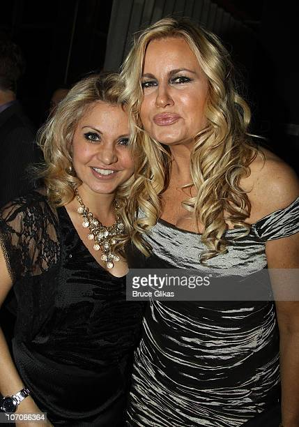 Orfeh and Jennifer Coolidge pose at Opening Night After Party for Elling on Broadway at The Soho House on November 21 2010 at the Soho House in New...