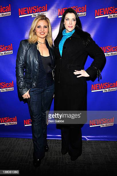 Orfeh and Kim Director attend the opening night of 'NEWSical the Musical End of the World Edition' at The Kirk Theater at Theatre Row on February 1...
