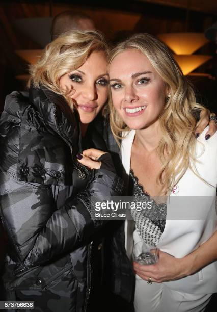 Orfeh and Laura Bell Bundy pose at the after party for 'Double Standards' a concert benefitting womans rights heath and empowerment funding the ACLU...