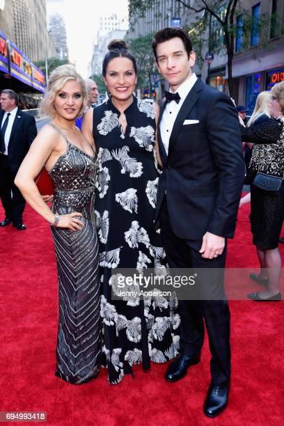 Orfeh Mariska Hargitay and Andy Karl attend the 2017 Tony Awards at Radio City Music Hall on June 11 2017 in New York City
