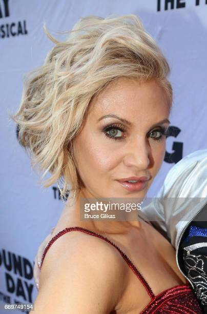 Orfeh poses at the opening night of the new musical based on the film Groundhog Day on Broadway at The August Wilson Theatre on April 17 2017 in New...